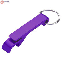 Zhongshan Manufacture Wholesale Custom Funny Aluminum Key chain Beer Bottle Opener With Keyring
