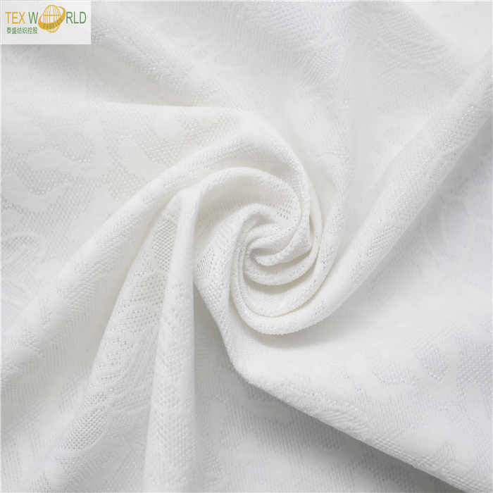 China supplier 90 polyester 10 spandex floral jacquard fabric