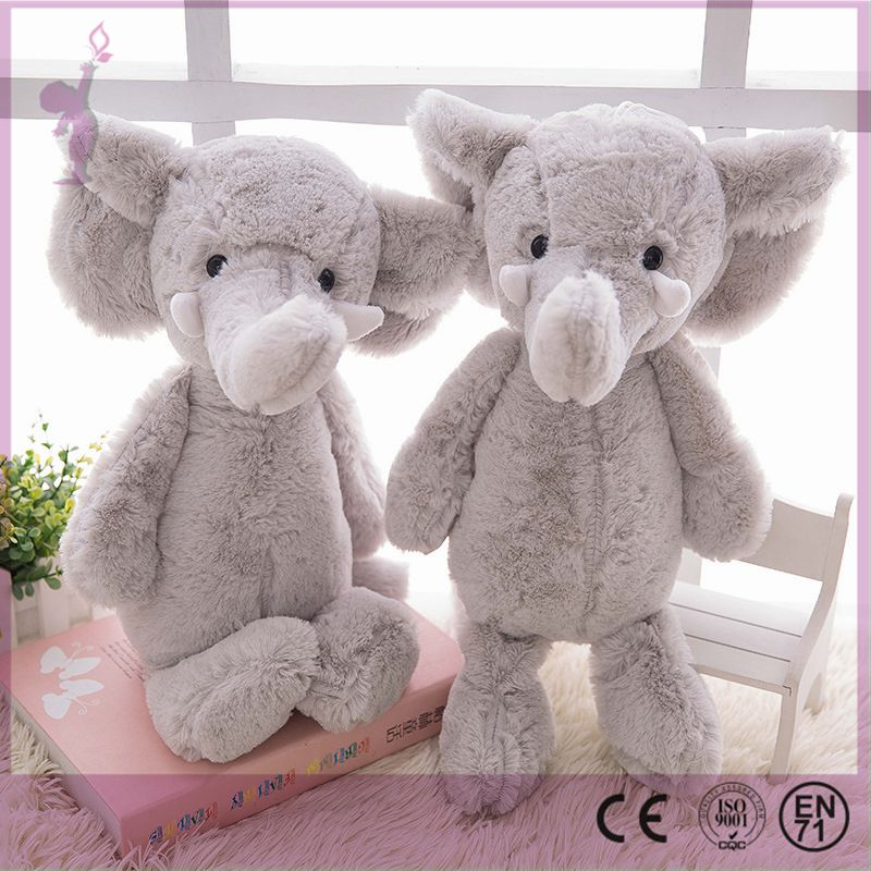 Popular big ears stuffed elephant toys cute kids plush toy custom grey elephant stuffed animal