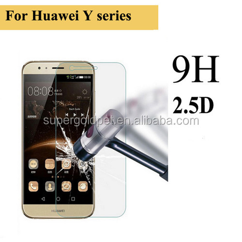 Wholsale price! anti shock mobile tempered glass screen protector for huawei y5
