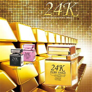 24K pink square perfume bottle pretty lady EDP wholesale perfume