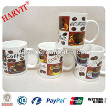 2014 Hot Selling 11OZ Decal Mugs Manufacture/Personilized Blank Coffee Mugs/Porcelain Custom Printed Coffee Mugs