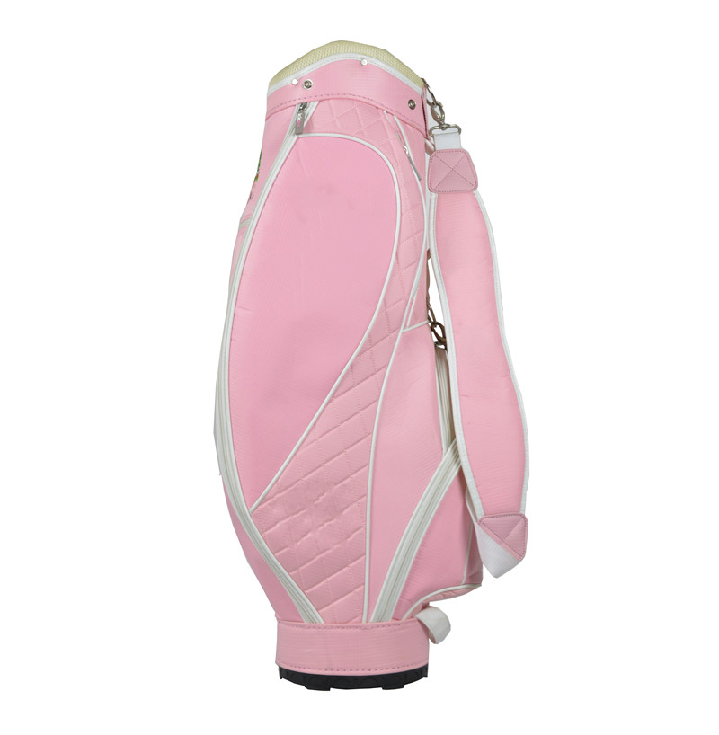 Wholesale hot sale ladies pink golf staff bag
