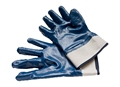Brand MHR Jersey liner full coated blue nitrile fully dip gloves/work glove from China