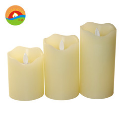Battery wax candles led grave light flameless remote