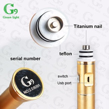 Authentic G9 portable electric vaporizer henail/h-enail vaporizer with wholesale price wax vaporizer h enail G9 Portable Henail