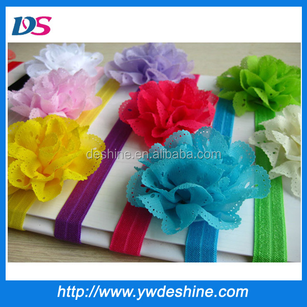 Hot sale new style wholesale stock multicolor flower baby elastic band for hair TS-<strong>097</strong>