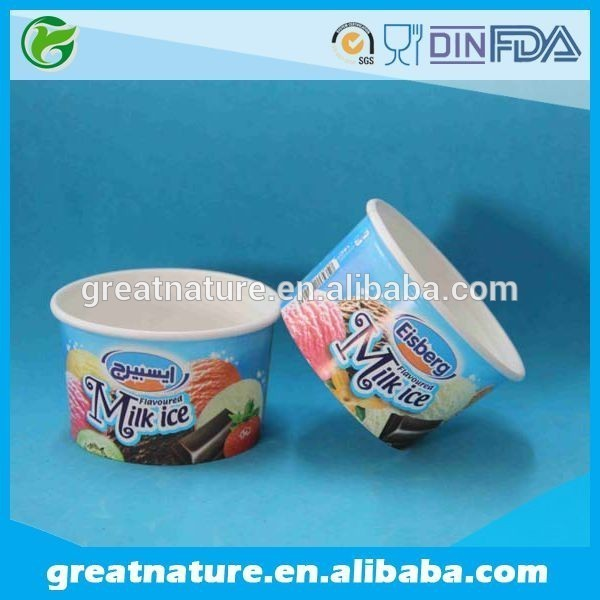 New design yogurt packaging biodegradable ice cream paper cup