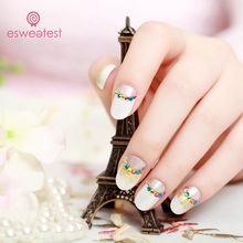 Popular beautiful design sticker nail art, fake acrylic nails wholesale artificial fingernails
