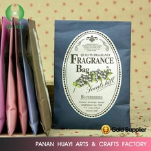 Wholesale fashion design Fragrant sachet / fragrant bag / paper air freshener