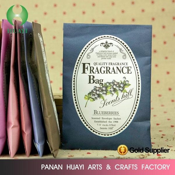 Wholesale fashion design Fragrant sachet / fragrant bag / paper air freshener