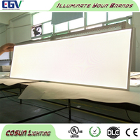 Custom shape 8mm THICK backlit UL listed LED light panel, Acrylic Light Guide Panel with PS Diffuser Sheet & Reflect film