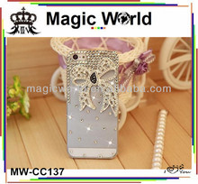 bling bling flower and crystal decorate mobile phone case for HTC