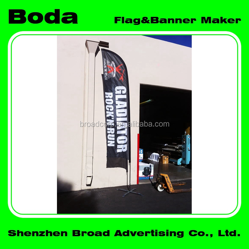 outdoor portable banner for advertising in snow location