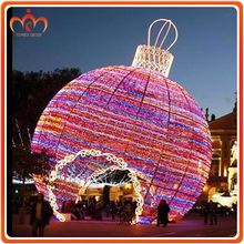 Factry Red multi color outdoor hanging led light balls