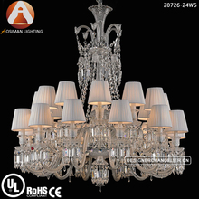 Baccarat Chandeliers & Pendant Lights with White Lampshade