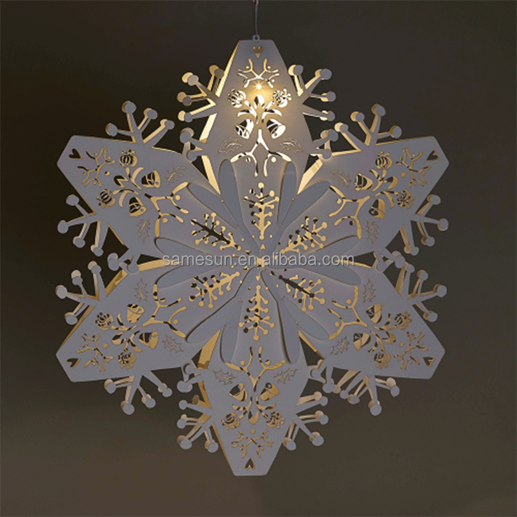 New Arrival Christmas Decoration 3D Hanging Paper Snowflakes Patterns