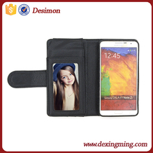 Desimon factory fancy leather for samsung note 3 case, credit card holder wallet case for galaxy note 3