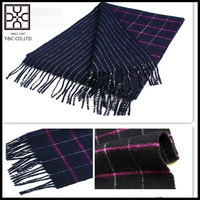 2015 Checked and Stripe Double Sided Wool Scarf