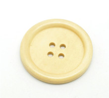30 Off-white 4 Holes Wood Big Sewing Buttons for Sweater Overcoat Clothing 40mm