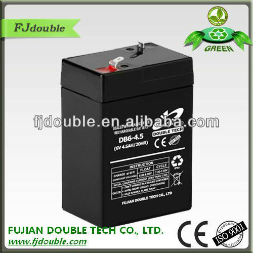 maintenance free rechargeable vrla battery 6v 4ah
