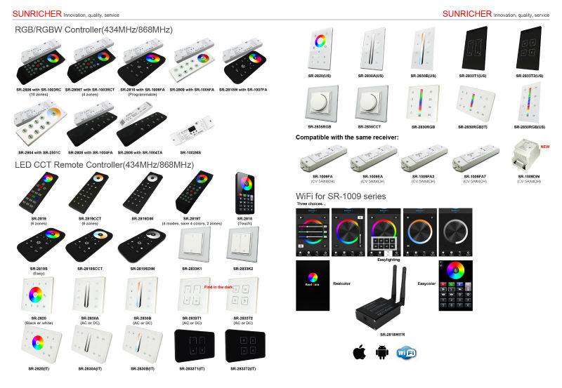 2013 new glass square touch panel controller,RGB controller,CCT controller,single color controller