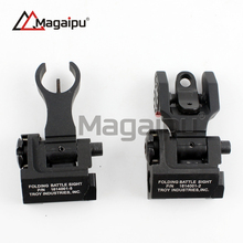 Hot Sell High Quality Micro rifle Style TROY Front and Rear iron Folding Battle Sight