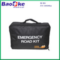Black Auto Emergency Supply Kit with first aid essentials