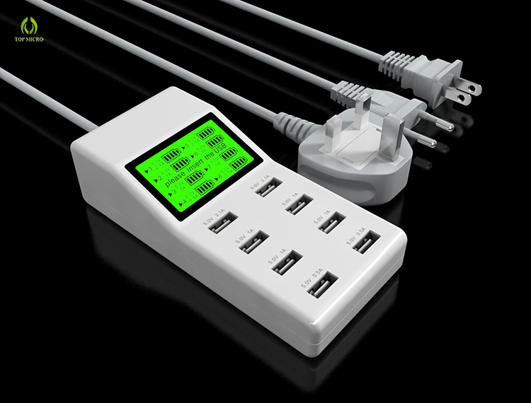 Hot Selling US EU UK Socket Multi Ports 8 USB Adapter Phone Charger Station