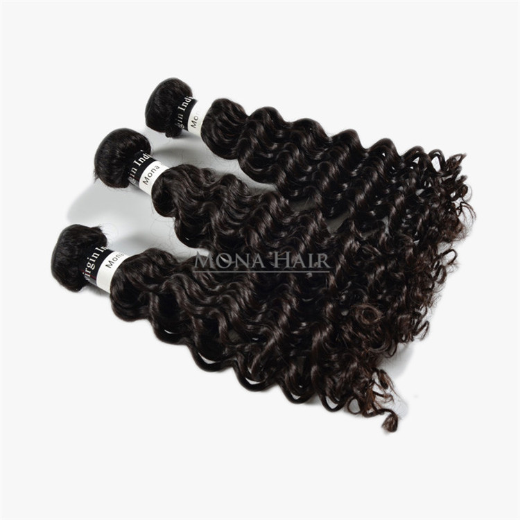 Chinese wholesale new quality human hair raw deep wave100 human hair raw indian hairvirgin indian remy hair extension