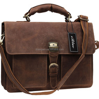 Iblue BR001 Leather Laptop Briefcase Messenger