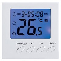 AC220V 3-speed Fan Coil RoomFan Coil Thermostat LCD display , Blue back light optional , Remote control optional