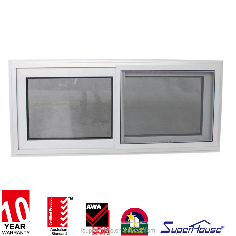 China manufacture wholesale modern style australia aluminium double sliding windows with mostquito net