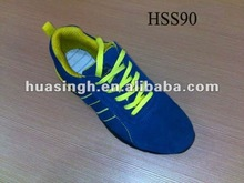 Most Attractive British Fashion Slip Resistant Trainer Blue Suede Running Shoes