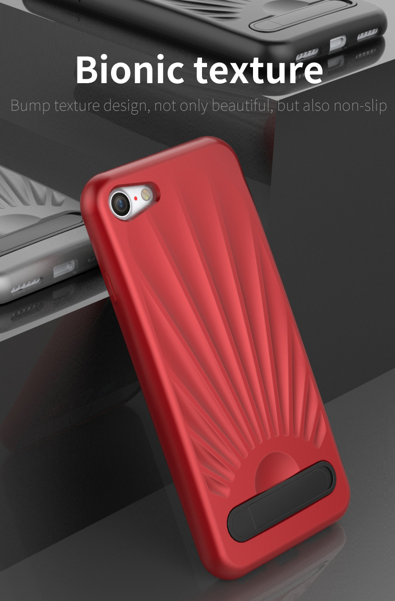 High Quality Shell Pattern Kickstand for iphone 8 tpu case,tpu back case cover for iphone 8