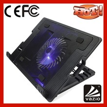 2 usb ports blue light LED 1 fan and switch foldable laptop cooler for laptop