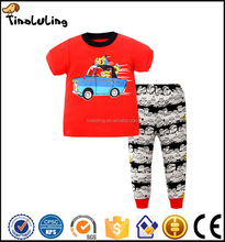 2017 children's pajamas 100% cotton soft feeling kids clothes suitable sleeping wear boutique