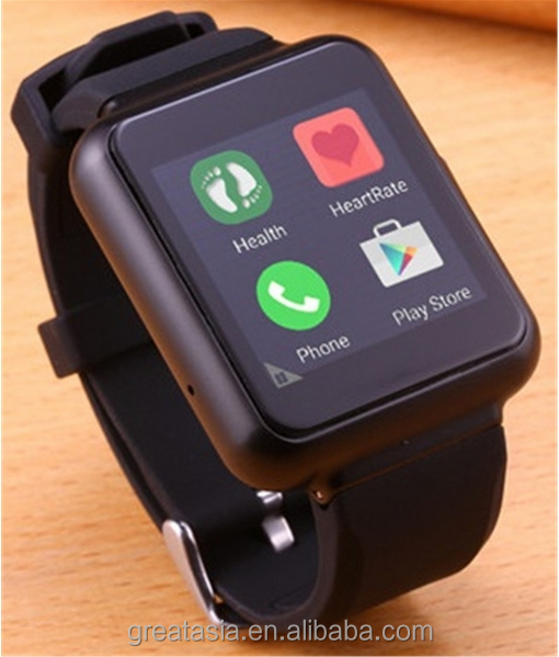 "1.54"" IPS Square 2G/3G Android Smart watch Q1 Android 5.1 Qaud Core with gprs 3g Wifi SIM Card MTK6580 1G+8G 400mAH Battery"