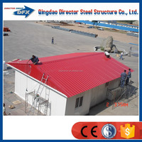 China Low Cost Modern Slope Roof Prefab House For Family