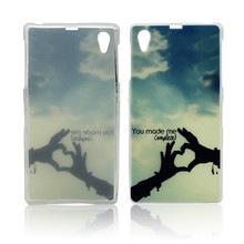 customized color printing soft cute case for sony xperia z1l39h