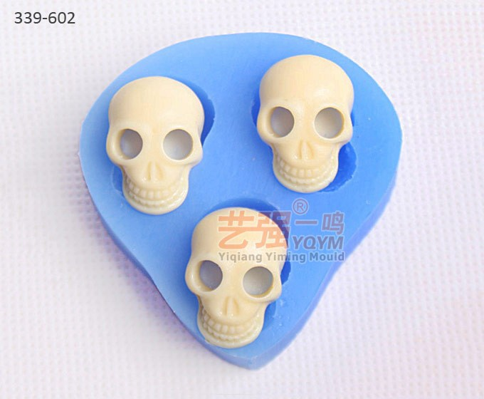 skulled shape cake mould,silicone halloween decoration mold,silicone cake mould