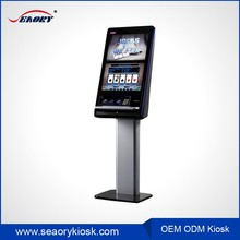 Custom hotel phone card vending machine /resaurant touch screen photo kiosk