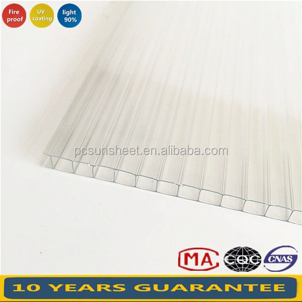 China suppliers Building material Sing wall Polycarbonate sheet, Twin wall/ Double wall Polycarbonate sheet with low prices