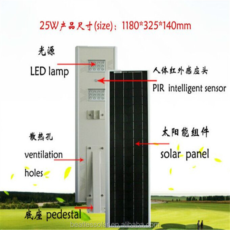 Wholesale Price 25W Integrated Solar Garden Light Manufacturer