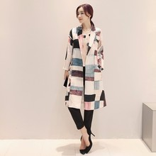 Winter High Quality Slim Fit Cotton Silk Clothes Women Printed Coat
