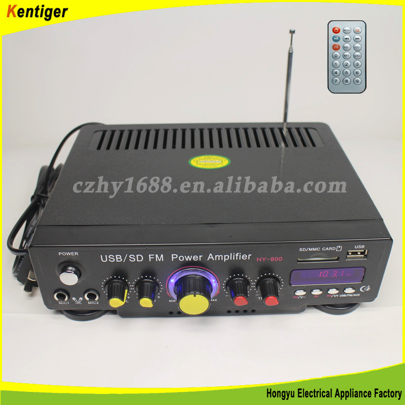 12v car amplifier with FM + Remote control