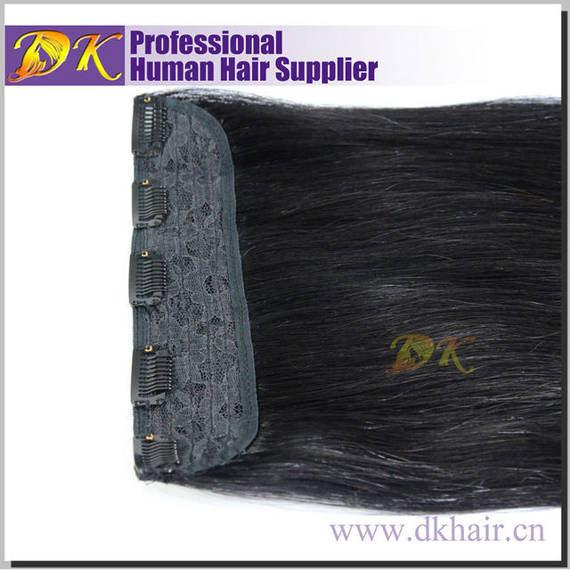 Double drawn Human Remy Clip-in Hair, Peruvian Brazilian Factory Wholesale clip in hair