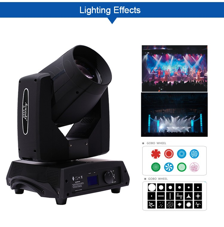 Professional China dmx 280w spot sharpy beam moving head dj lights for sale