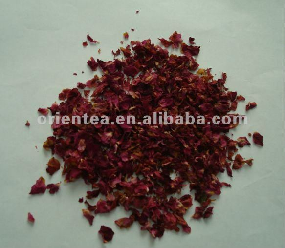natural dried purple rose petals tea