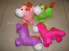 2014 2015 plush stuffed horse toy animal / new year mascot plush toy horse